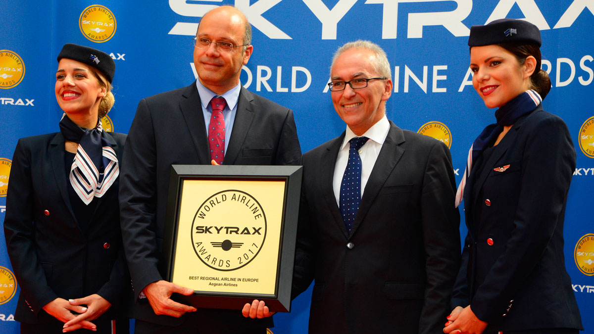 爱琴海航空赢得2017年欧洲最佳区域性航空公司