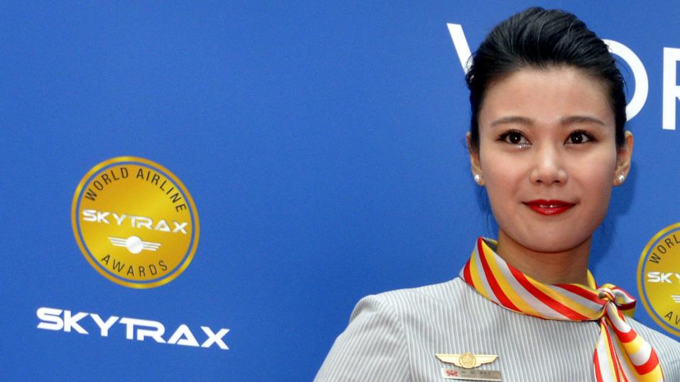 海南航空乘务员在2015年奖