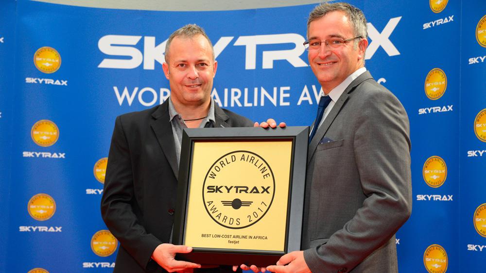 fastjet领取2017年非洲最佳廉价航空公司奖