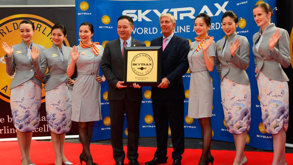 海南航空被评为2017年中国最佳航空公司