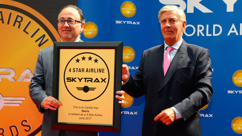伊比利亚航空在2017年全球航空公司奖