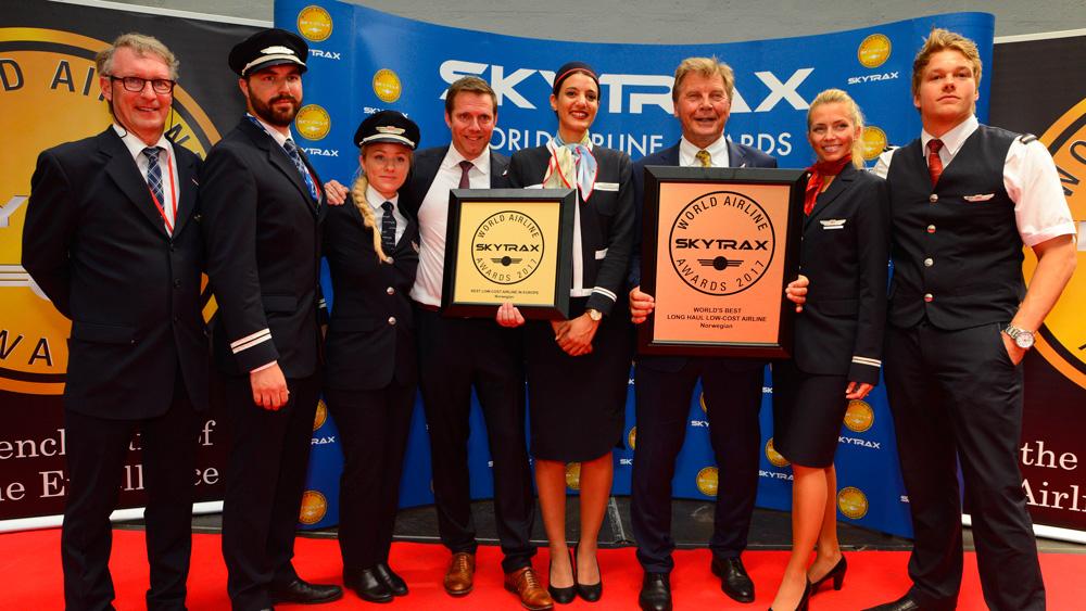 挪威航空庆祝2017年奖