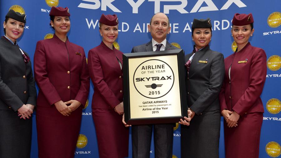 qatar airways nombrada aerolínea del año en 2015