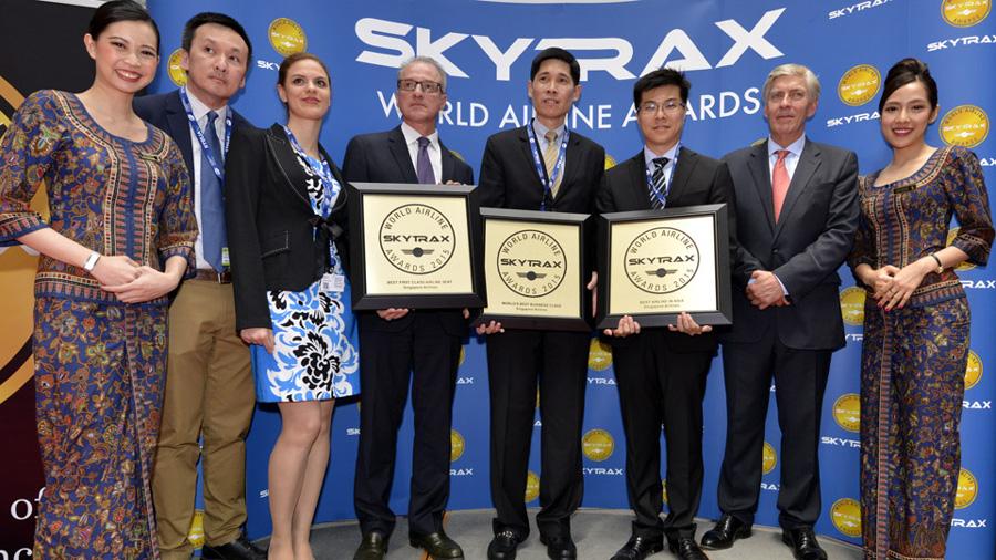 singapore airlines recoge los premios de 2015